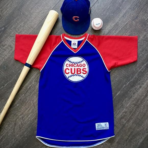 a007971dfd8 Chicago Cubs 🐻 Retro MLB Jersey w  Vintage Logo. M 5c45229b534ef9d20dc01196